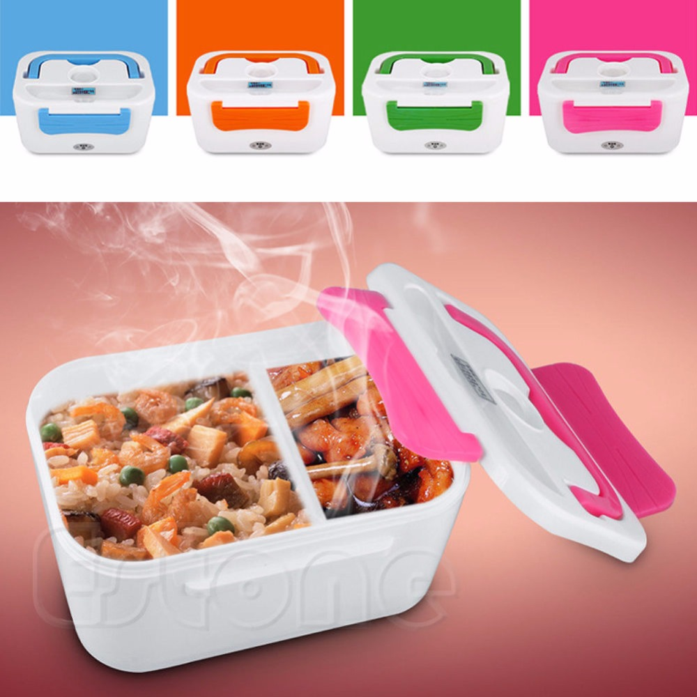 New Portable Electric Heated Portable Compact Food Warmer Lunch Box Bento Box for US Plug<br><br>Aliexpress