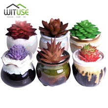 WITUSE Decorative Flower Pots Small Ceramic Pot Planters Flowing Glazed Home Garden Succulents Plant Pot Flowerpot Flower Vases