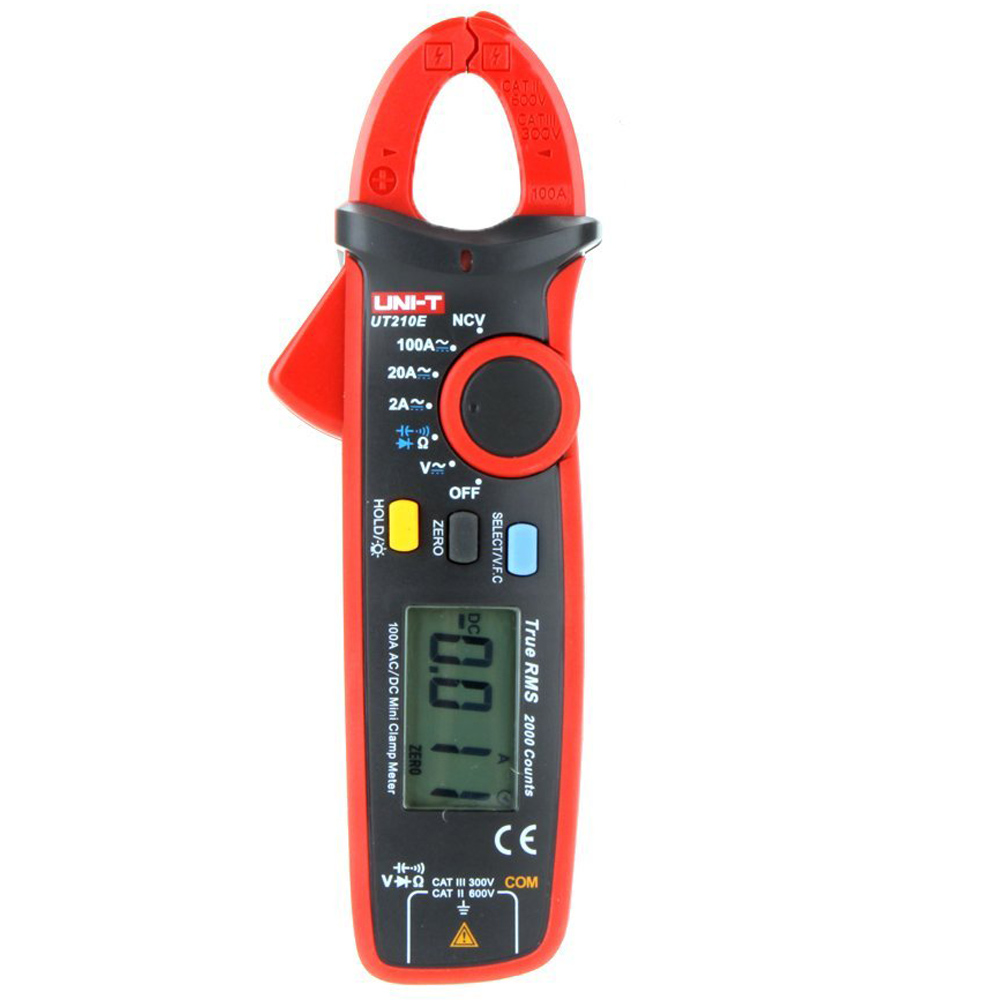 New Style UNI-T UT210E True RMS AC/DC Current Mini Clamp Meters w/ Capacitance Tester Red<br><br>Aliexpress