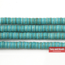 "Free Shipping Howlite Turquoises Heishi Beads 15"" Strand 4 6 8 MM Pick Size For Jewelry Making No.TB8(China)"