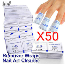 Belen 2017 Professional 50 Pcs / Lot Gel Polish Remover Wraps Nail Art Gel Polish Nail Art Cleaner Nail Polish Remover Wipes(China)