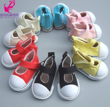 Assorted Colors 5cm Canvas Sneaker For 1/6 BJD Doll Fashion Mini Toy Shoes Bjd Shoes for Russian diy texitle Doll shoes(China)