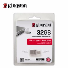 Kingston OTG Type C usb flash pen drive 3.1 USB 3.0 16gb 32gb 64gb 128gb Smartphone Micro Memory USB Stick microDuo