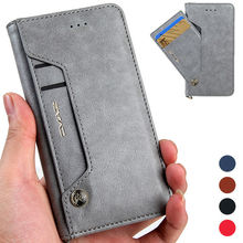 CMAI2 Sided Card Holder Luxury Flip Leather Wallet Case for iPhone 7 Plus Phone Cover Coque Capinha Grey Black Red Blue Brown