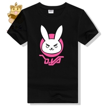 full cotton cute t shirt kawaii lovely Watch over character DVA rabbit logo t shirt DVA t shirt D.VA ac226