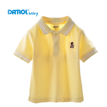 12M-M Summer Cotton Short Sleeve Baby Clothes Newborn Boy Polo Shirts Comfortable Baby Girl Clothes ChildrenKids Clothing DR0114(China)