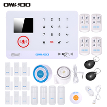 OWSOO 3G Alarm System Wireless SMS Alarm Security System LCD Display Water Door Sensor Wired&Wireless Siren Kit Phone App Remote(China)