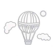 Hot Air Balloon Cloud Metal Cutting Dies Stencil for DIY Scrapbooking Paper Cards Making Dies Embossing Folder Craft(China)