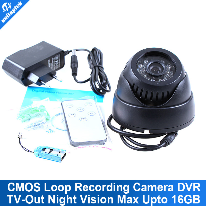 2015 Upgrade 24 LED IR Color CMOS Loop Recording CCTV Security Dome Camera Digital Video Recorder TV Out Remote Control<br><br>Aliexpress