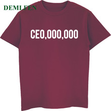 Funny CE0,000,000 T-Shirt Entrepreneur Boss Life CEO T-shirt Men's Print Summer Cotton Short Sleeve T Shirt Male Classic Tees(China)