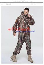 by dhl or ems 10pcs Men Windproof Coat Hunt Camouflage Army ClothingShark Skin Soft Shell Outdoors Military Tactical Jacket