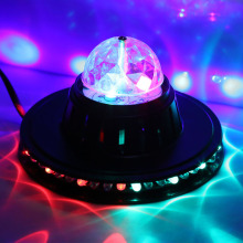Mini RGB Laser LED DJ Club Pub Disco Party Music Crystal Magic Ball Stage Effect Light With USB Disk Remote Control
