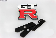 10 Piece Red Black 5*6.5cm Chrome Metal GTR Car Tail Stickers Decoration Full Metal GTR Car Exterior Styling Emblems Accessories