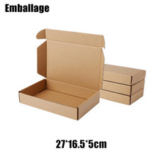 Wholesale 10pcs/lot 27*16.5*5cm Brown Kraft Gift Packing Boxes Soap Packaging Storage Item Package Mailing Box PP767