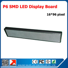 TEEHO 96*576mm Indoor Advertising RGB Led Display Panel P6 SMD LED Module 192*96MM 1/8 Scan Programmable Full Color LED Display
