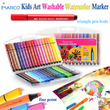 marco children's art set washable watercolors colored markers fine point water based drawing pen graffiti paint aquarel marker