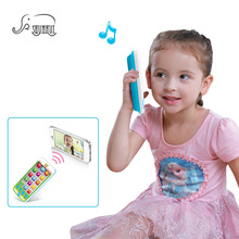 SHUNHUI Baby Mini Mobile Phone Toys Kids Electronic Touch-screen Cell Phone Music Camera Phone Educational Toys for Children(China)