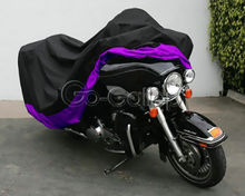 XXXL Purple Motorcycle Cover Fit For Honda Goldwing 1500 1800 / Harley Street Glide Electra Glide Ultra Classic FLHTCU Touring(China)