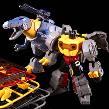 Cool KBB Dino Animals Transformation Robots Deformation Model Children Toys Assembled Action Figure Grimlock G1 Dinosaur(China)