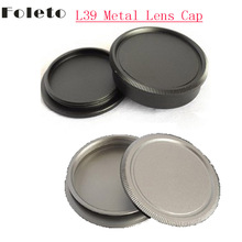 Buy Foleto Metal M39 L39 Lens Cap + Rear Cap Lens Protector Protective Leica L39 M39 39mm Screw Mount Camera Lens Silver Black for $4.24 in AliExpress store