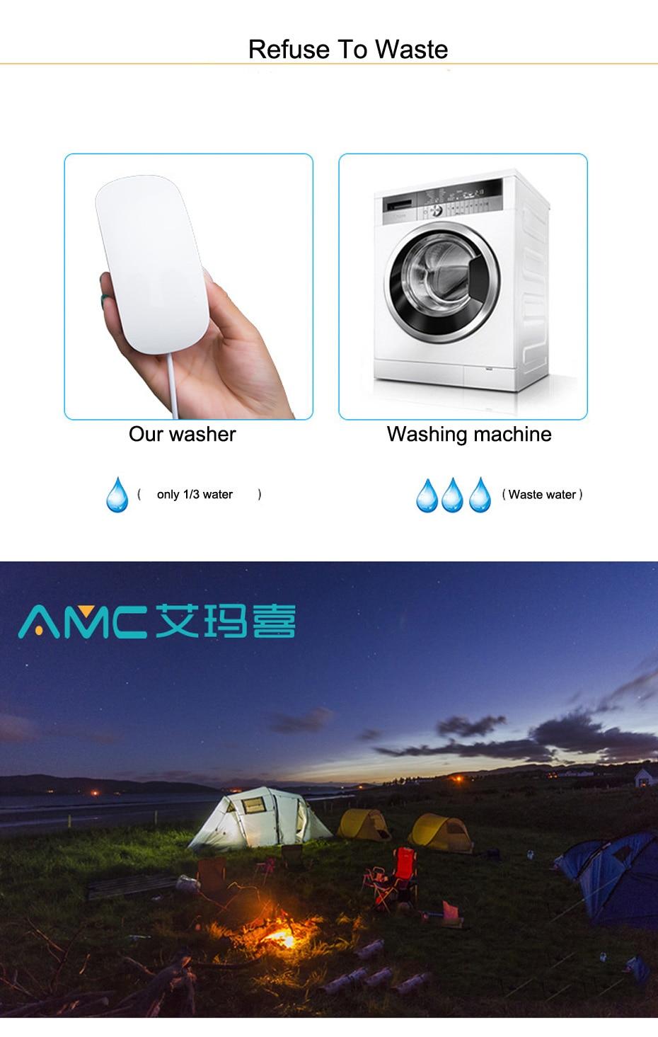 Multifunctional USB Mini Washing Machine Portable Ultrasonic Waterproof Washer IP66 10W 5V Washing Machine