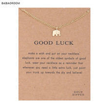 With Card Alloy Key Star Infinity Anchor Drop Gold-color Shorts Clavicle Chains Fashion Necklaces & Pendants Wholesale