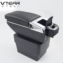 Vtear For Skoda Octavia A7 armrest box central Store content box with cup holder interior products interior accessory 2015-2017(China)