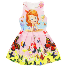 Children's Costume Vestido Snow white Princess Dresses Summer Flower Sundress Dress For Girls Elbise Age 3-10 PO8