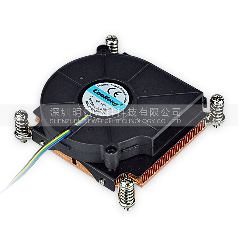 1U server Computer Copper Radiator cooler cooling heatsink for intel LGA 2011 Active cooling<br>