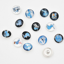 Newest 13 Styles 18MM Glass Football Team Detroit Lions Snap Button Charms Jewelry (Mixed 50pcs or Single 10pcs)(China)