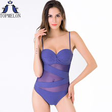 plus size swimwear Big size swimwear one piece swimsuit swimwear sexy one piece swimwear Push-up Swimsuit bathing suits women(China)