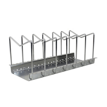 201 Stainless Steel Pot Lid Rack Pan&Cutting Board Holder Organizer for Kitchen 6 Compartments KLR201
