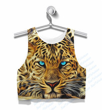 Custom Made Winter Eye Leopard Sublimation Print Milk Silk Crop Tops plus size