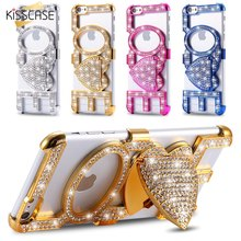 KISSCASE Luxury Bling Diamond Hot Lips Case For Apple Iphone 6 6S 6 PLUS 5 5S By PC Girl Cute Stylish Back Phone Cover Capa