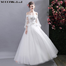 SOCCI Weekend Elegant Sexy Wedding Dress 2017 Sweetheart Strapless Appliques Flowers Beading Formal Party Gowns Vestido de noite