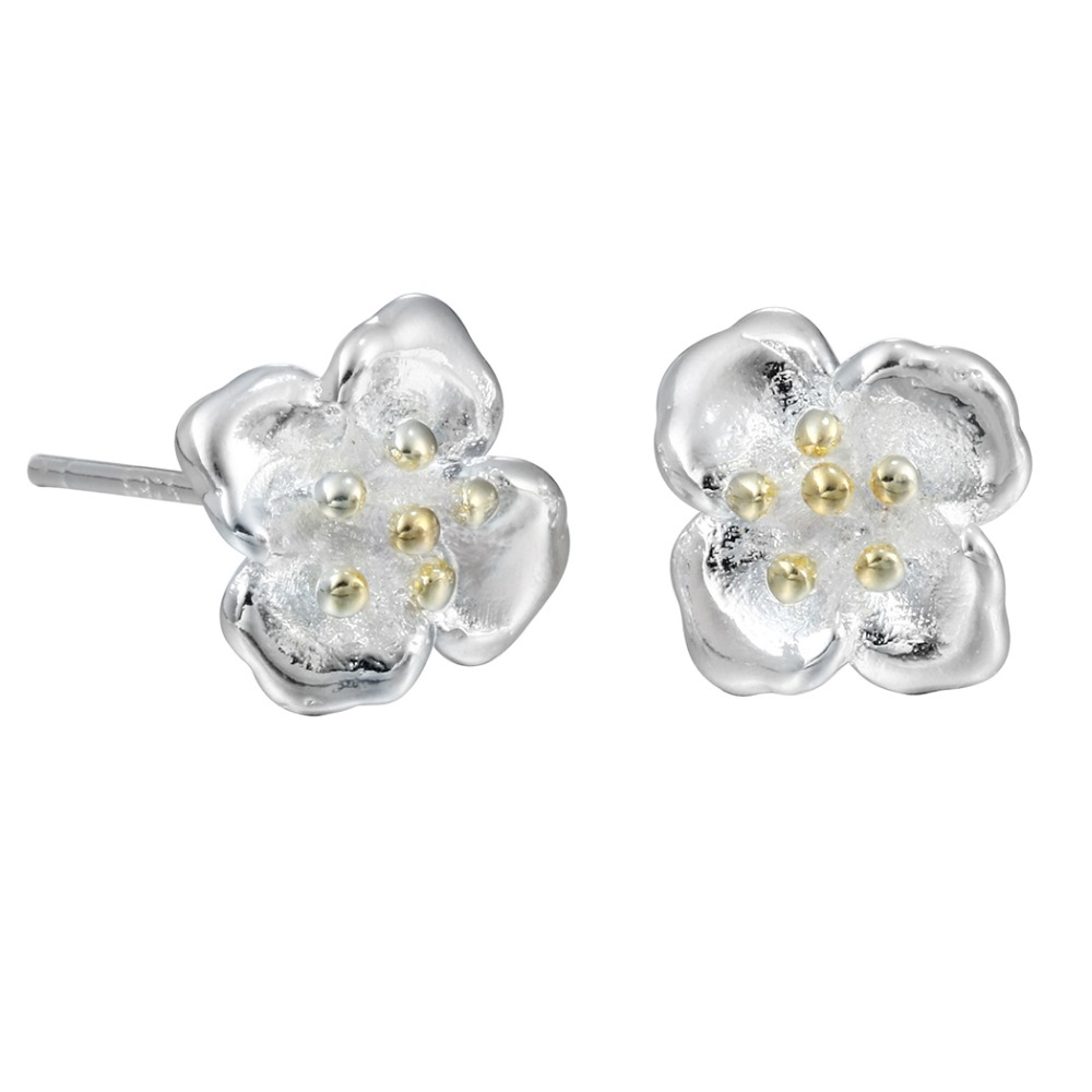 QIAMNI-Party-925-Sterling-Silver-Romantic-Flower-Piercing-Stud-Earring-Women-Girl-Pendientes-Christmas-Accessories-Jewelry