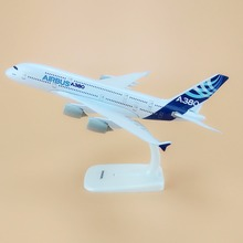 Alloy Metal Prototype Air Airbus A380 Airlines Airplane Model Airbus 380 Plane Model Stand Aircraft Kids Gifts 20cm(China)