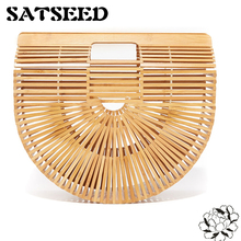 Bamboo Bag Summer Holiday Beach bag Women Handbags 2017 New European Style Straw Bag