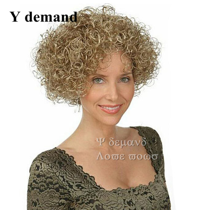 Charming Corta Pelo Sintetico Cheapest curly blonde bob short full wigs for Women Fashion New Sexy Womens Natural Hair Wigs<br><br>Aliexpress