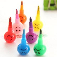 7 Colors Smiley Graffiti Wax Crayon Pencil Pen for Drawing Kids Students Toy Drawing Crayons Kids Gift Toys
