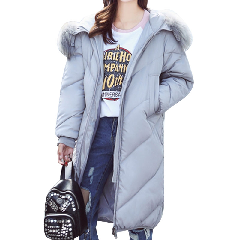 Plus Size Winter Jacket Parka Women Long Coat Big Hooded Fur Collar Loose Female Clothes Thick Warm Woman Jackets Ladies CoatsÎäåæäà è àêñåññóàðû<br><br>