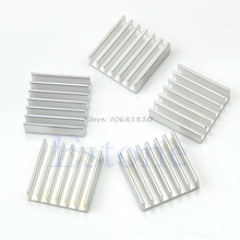 5Pcs/pack Aluminum Heat Sink For Memory Chip IC 14*14*6mm -R179 Drop Shipping