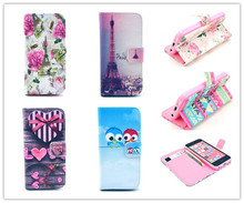 Credit Card Slots Holder Top Quality Flip flower Leather PU Cover Case For Apple Iphone 5c Stand Cover Iphone5c /card holder