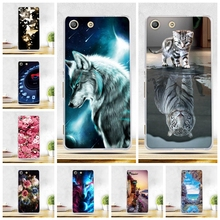 Buy Phone Case Cover Sony Xperia M5 E5603 E5606 E5653 Soft TPU Animal Cart Scenery Print Case Sony xperia m5 M 5 Cover for $0.99 in AliExpress store