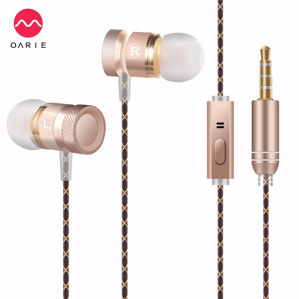 OARIE Metal Earphone 3.5mm In-Ear Earbuds Deep Bas...