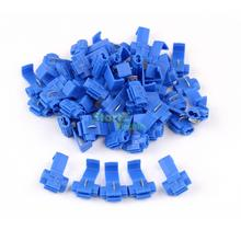 50PCS Blue Scotch Lock Wire Electrical Cable Connectors Quick Splice Terminals Crimp