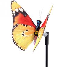 Solar lamp Colorful Butterflies Solar string lights RGB LED color change Christmas LED Garden Decoration light