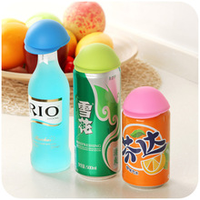 Japanese cute hat cans closures, Coke Lids silicone dust lid K2491(China)