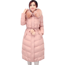 Autumn and winter new lady down jacket Long sleeve longer section Nagymaros collar high-end fashion Thick warm coat