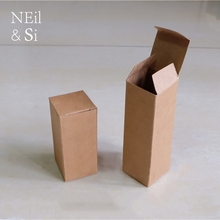 Brown Paper Gift Box Cosmetic Perfume Bottle Torch Packaging Kraft Boxes 5*5*16.2cm Free Shipping(China)